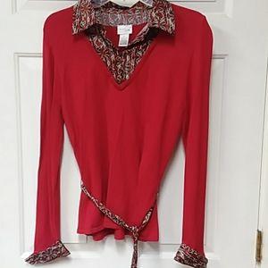 Pretty! Kim Rogers -Thin Blouse/Sweater -size M